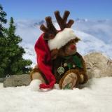 Santas Reindeer to Smooch 33 cm Teddy Bear by Hermann-Coburg