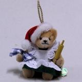 In the Christmas Bakery with Mrs. Santa 13 cm Teddy Bear by Hermann-Coburg